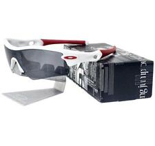 Oakley Custom RADAR PATH Polished White Frame Black Iridium Lens Mens Sunglasses