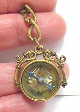 VICTORIAN GOLD FILLED COMPASS  FOB PENDANT 20 MM 5 GRAMS