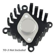 Large Black Anodized Aluminum To-3 Heatsink
