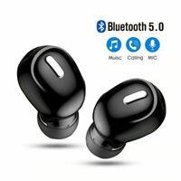 Mini Bluetooth 5.0 In Ear Musik Kopfhörer Wireless Ohrhörer Headset für Handy DE