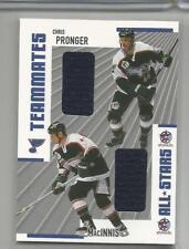 2002-03 BAP Memorabilia Chris Pronger & Al MacInnis Teammates TM-16 (Box DP)