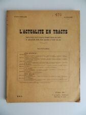 L'actualite en tracts par Croizier action populaire editions SPES 1930