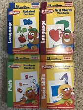 Playskool Flash Cards - Alphabet/First Words/Shapes & Colors/Numbers Set of 4