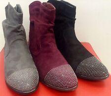 Damen Herbst/Winter Schuhe Stiefeletten Ankle Boots Gefüttert mit Nieten 36-41