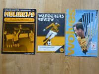 Wolverhampton Wanderers Wolves v Derby County football match programmes x 3