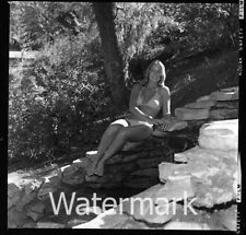 1970s Photo medium format negative  model Lady  in bikini #3