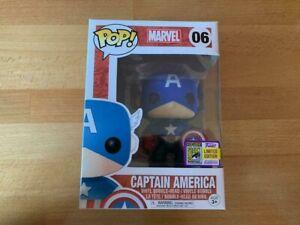 RARE/RETIRED Marvel Captain America | 2017 SDCC Exclusive FUNKO POP | #06 RARE