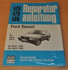 FORD Escort L Ghia GL XR3 ab 09/1980 04/1982 OVP NEUx Reparaturanleitung B478