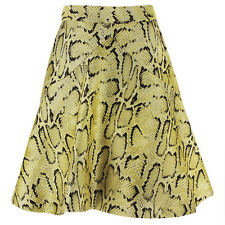 Stella McCartney Shimmer Gold Python Jacquard A-Line Skirt IT42 UK10