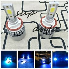 H11 H8 H9 H16 LED Headlight Bulb Conversion Kit High/Low Beam 8000K ICE BLUE 55W