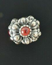 Pandora July Carnelian Birthday Bloom Orange Flower Silver Charm 790580 FreePost