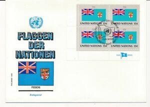 D112739 Flag Series Fiji FDC United Nations New York Bureau