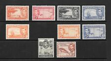 1938 King George VI SG11 to SG123a short set of 9  Mint Hinged CAYMAN ISLANDS