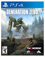 Generation Zero PS4 -- Standard Edition (Sony PlayStation 4, 2019)