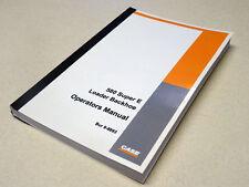 Case 580E/580 Super E Loader Backhoe Owners Operators Maintenance Manual NEW