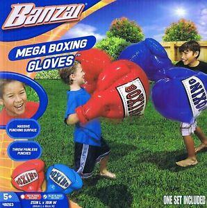 BANZAI BOXING GLOVES Jumbo Giant Mega Outdoor Garden Game Toy Inflatable 1 Pair