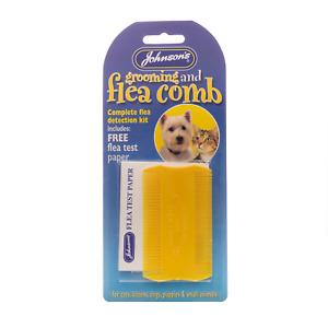 JOHNSONS Flea & Grooming Comb + Flea Detection Kit Blister Packed