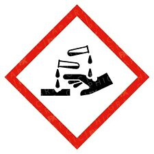 CLP Corrosive Hazard Warning Labels Stickers COSHH PPE
