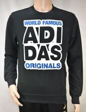 adidas Crew Neck Black Hoodies & Sweatshirts for Men