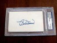 BOBBY DOERR 9 X ALL-STAR HOF BOSTON RED SOX SIGNED AUTO INDEX CARD PSA/DNA