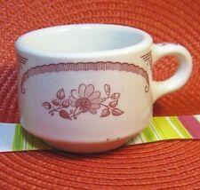 VINTAGE HOMER LAUGHLIN~CUP/MUG~Restaurant Ware~AMERICAN ROSE~PINK/WHITE~DAMAGED