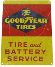 Goodyear Tires Battery Service Oil Gas Service Auto Shop Garage Metal Sign