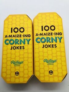 2 Ridley's 100 Corny Jokes A-maize-ing jokes Cards For Adults and Kids