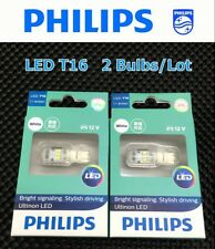 PHILIPS Ultinon LED T16 W16W 12V Xenon White Reverse Signal Light Bulb x 2 #Agtc