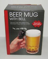 Beer Mug with Bell Novelty Gift NEW