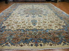 C1940 VG DY ANTIQUE PERSIAN NAEIN NAIN KASHAN DESIGN 10x14 ESTATE SALE RUG