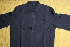 camicia Antony Morato, manica lunga, modello worker, colore blu scuro, taglia 50