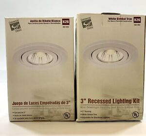 """Lot Of  2 Commercial Electric 3"""" Recessed Light Kit K26 50W 562 883Light Bulb"""
