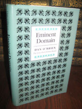 1st Edition EMINENT DOMAIN Dan O'Brien STORIES First Printing FICTION