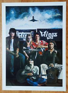 WINGS _ PAUL McCARTNEY _ ART BY STEVEN CHAPPLE _ 1979 _ RARE UNCIRCULATED PRINT