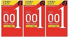 Okamoto zero one 001 Condoms Ultra Thin 0.01mm 3pcs X 3set Large L size Japan