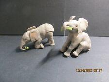 "2 ""Baby African Elephants"" Porcelain Figurines - Lenox Baby Elephant Collection"