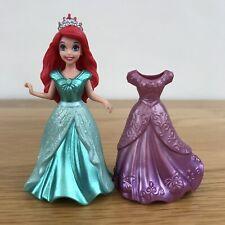 * DISNEY PRINCESS MAGICLIP ARIEL Little Mermaid Doll & 2 Dresses Mattel *