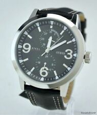 Genuine Leather Band Men's GUESS Wristwatches