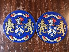 Set Of 2 The Ancient Arms Of McKay Drink Coasters Coat Of Arms Crest Family Beer