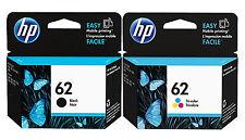 GENUINE NEW HP 62 (C2P04AN/C2P06AN) Ink Cartridge 2-Pack