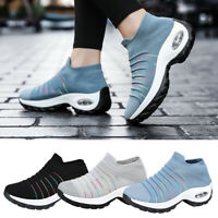 Womens Ladies Sneakers Trainers Sock Runners Comfy Speed Knit Gym Shoes Size
