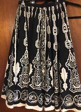 women's Black & White Sequin Embellished Circle Skirt Size 8