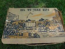 VINTAGE 1950's REL WESTERN SET (PARTIAL) -HARD PLASTIC- COWBOYS-WAGONS-HORSES
