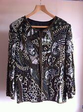 Vintage Black, Gold & Silver Sequin & beaded jacket