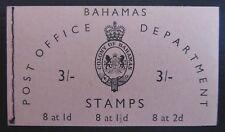 BAHAMAS 1961 - 3/- Booklet SB2 EF19