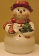 Laurie Gates Los Angeles Pottery Snowman Cookie Jar  ~ Excellent!