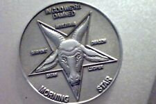 Lucifer Morning Star   - PEWTER FINISH 3D Coin   1 1/2""