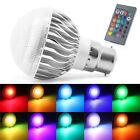 5W Lampada E27 B22 RGB LED Lampadina Faretto Multicolore Luce con telecomando