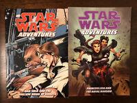 Star Wars Adventures Lot Of 2 Han Solo Princess Leia TPB Dark Horse Comics