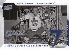 08-09 UPPER DECK MVP MAGNIFICENT 7s TURK BRODA MAPLE LEAFS *8230